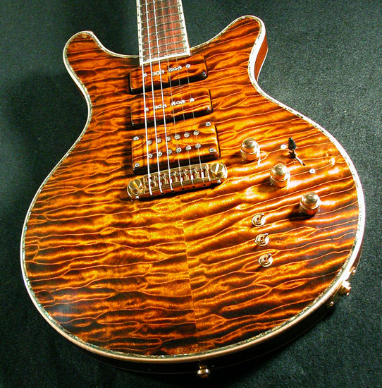 Custom Quilted Maple Doublecut #046 : quilted maple guitar tops - Adamdwight.com
